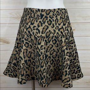 Free People~ Cheetah Print Skirt Size 10